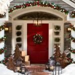 décoration de Noël outdoor porte jardin