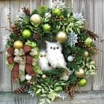 jolie couronne porte d'entrée Noël Jour de l'An