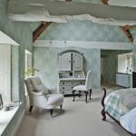 tapisserie mur design chambre rustique