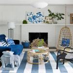 idées déco salon en bleu moderne