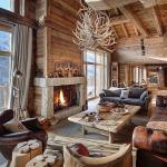 design intérieur brut bois rustique maison secondaire