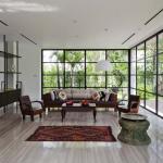 Salon moderne au design lumineux maison rénovée