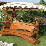 meuble de jardin rustique bois massif authentique