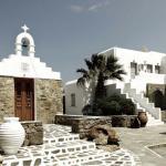 entrée boutique hotel mykonos vacances grèce
