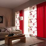 ambiance convivial panneaux japonais rouges
