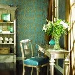 l'inspiration turquoise pour ce papier peint design