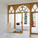 Porte intérieure vitrée maison moderne