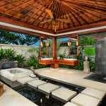aménagement extérieur salle de bain exotique douche extérieure de jardin