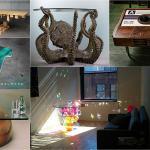 table basse design créatif artistique séjour salon