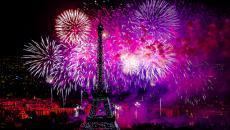 La Tour Eiffel lors de la fête nationale du 14 juillet
