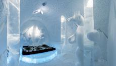 Hôtel design de glace en Suède