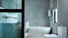salle de bain en béton très design