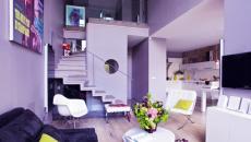 salon design éclectique touches vert anis