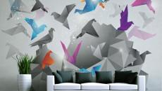 De Haute Qualite Les Oiseaux En Vol U2013 Un Des Stickers Muraux En 3D