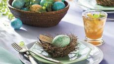Table de repas pour Pâques