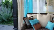 voiles d'ombrage en blanc et turquoise