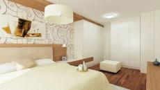 chambre a coucher design blanc et bois