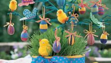 déco arbre poussins Pâques