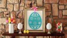 déco maison Pâques aux fleurs et œufs