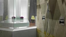Papier peint unique pour salle de bain design contemporain