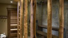 Idée intéressante pour une douche design rustique