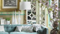 Salon classique et élégant en teintes douces