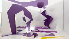 Chambre design en mauve Oasis in a Sandstrom