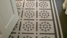 Dessin au sol imitation mosaïque