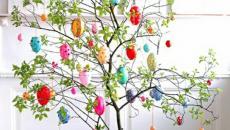 arbre de décoration aux oeufs