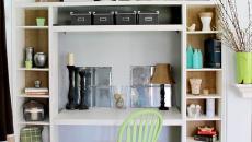 Mobilier de bureau compact aux petites étagères