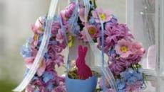 couronne lapin violet pâques