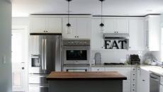 Cuisine design moderne en blanc et gris
