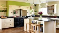déco de cuisine moderne en vert