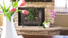 déco maison Pâques tulipes rose et lapins
