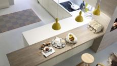 La cuisine design italienne aux formes simplifiées et minimalistes