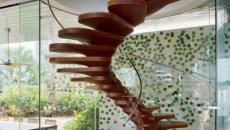 Escalier en bois colimaçon design
