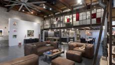 séjour salon spacieux idées déco style industriel