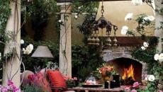 mobilier de jardin à la pergola sombre