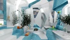 Salle de bain design H2O in Geometry