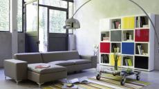 salon sobre déco en couleurs