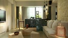 séjour design minimaliste en bois