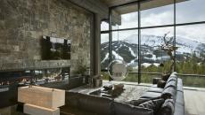 séjour avec vue magnifique sur la montagne