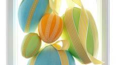 décoration de pâques suspension d'œufs