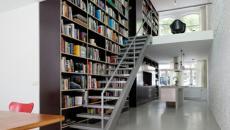 Escalier d'intérieur de bibliothèque