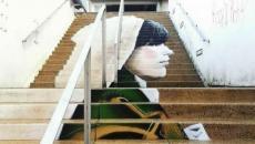 Escalier street art à Morlaix - France