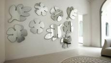 miroirs design en forme de feuilles