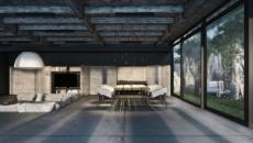 résidence de luxe au design industriel