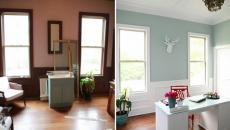 vue d'ensemble avant et après la rénovation bureau