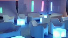 slide tabouret lumineux cubo indoor