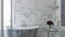 magnifique salle de bain design marbre blanc